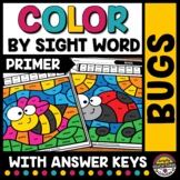 SPRING READ COLOR BY SIGHT WORD WORKSHEETS KINDERGARTEN MAY PACKET COLORING PAGE