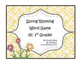 SPRING RHYMING GAME -K -1st Grade
