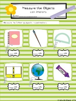 Ruler Measurement Activites/Centers Centimeters & Inches- Spring Edition