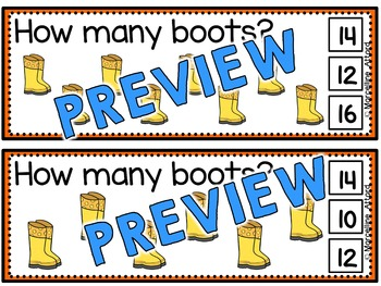 SPRING ACTIVITIES KINDERGARTEN (BOOTS SKIP COUNTING BY 2 FOR SPECIAL EDUCATION)