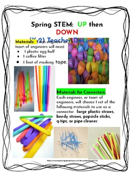 SPRING STEM Lesson (K-2) UP then DOWN