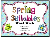 PHONOLOGICAL AWARENESS- SPRING SYLLABLES- KINDERGARTEN ACTIVITY