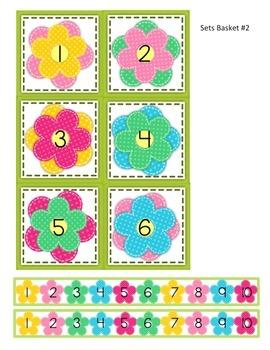 SPRING Sets Basket Numeral Cards