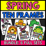 SPRING ACTIVITY KINDERGARTEN AND PRESCHOOL MATH (TEN FRAMES CENTERS NUMBERS 1-10
