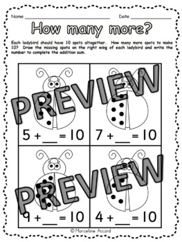SPRING MATH ACTIVITIES: SPRING MATH PRINTABLES: SPRING KINDERGARTEN WORKSHEETS