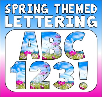 SPRING THEMED LETTERS, NUMBERS AND PUNCTUATION - DISPLAY LETTERING SEASON