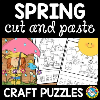 SPRING CUT AND PASTE PUZZLES: PERFECT TO IMPROVE FINE MOTO