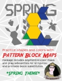 SPRING THEMED Pattern Block Templates and Color Maps