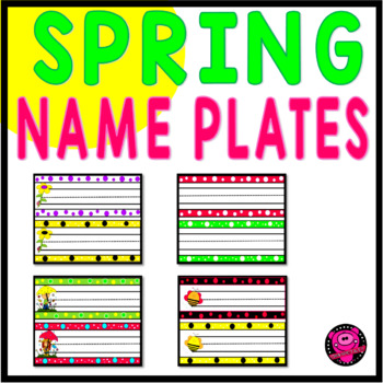 Spring Theme Name Plates and Word Wall Cards