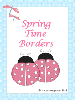 Borders with Spring Colors!