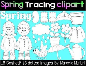 SPRING TRACING CLIP ART- SPRING CLIP ART GRAPHICS