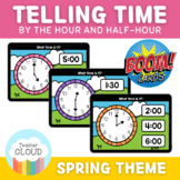 SPRING Telling Time by the Hour & Half-Hour BUNDLE Digital Activity BOOM CARDS™