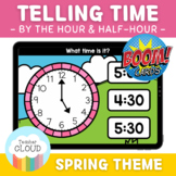SPRING Telling Time by the Hour and Half-Hour Digital Activity BOOM CARDS™