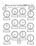 SPRING Telling Time (to the quarter hour) Practice Worksheet