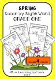 SPRING Themed: Color by DOLCH Sight Word (GRADE 1) Literac