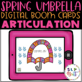 SPRING UMBRELLA & RAIN, DIGITL BOOM CARDS, ARTICULATION