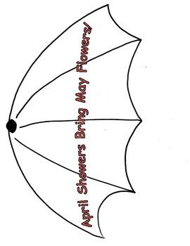 SPRING UMBRELLA WRITING DISPLAY (FREE)