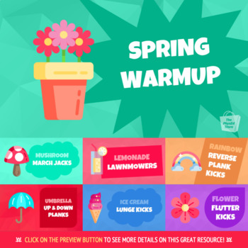 SPRING WARMUP | Physical Education Exercise Activity