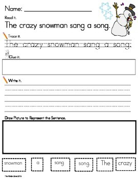 SPRING/ WEATHER PHONICS SENTENCE BUILDING **READ.TRACE.BUILD.WRITE IT!
