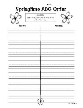 SPRING WORD WORK ACTIVITY PACK! - 5 WORD WORK ACTIVITIES