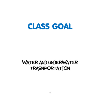 SPRING: Water/Underwater Transportation Weekly Thematic Unit for Toddlers & PreK