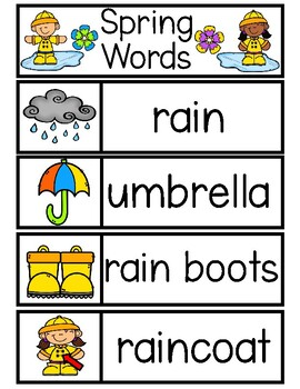 SPRING Word Cards {Capital & Lowercase}