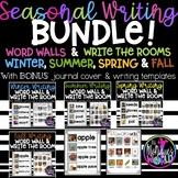 SEASONAL Word Walls / Writing With REAL photos BUNDLE!