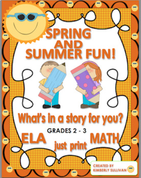"""End of the year activities  math + Lesson Plan """"What's in a story for you?"""""""