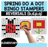 SPRING do a dot / color by letter reversal b d p q k 1 2 3
