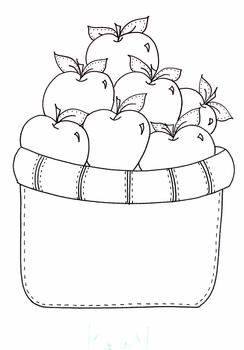 Basket of Apples printable