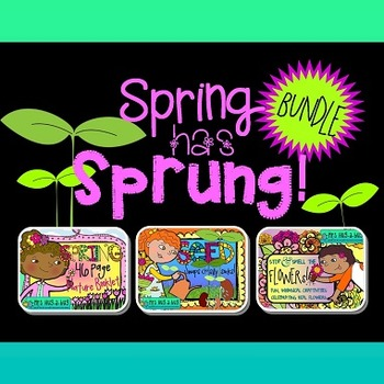 SPRING has SPRUNG Bundle! {Nature booklet, fresh flowers & seed pack}