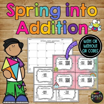SPRING into ADDITION {A Scoot Math Station Game with QR Codes}