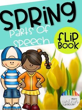 SPRING into Parts of Speech FLIP BOOK