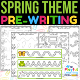 SPRING pre-writing pack | preschool tracing pages | PENCIL