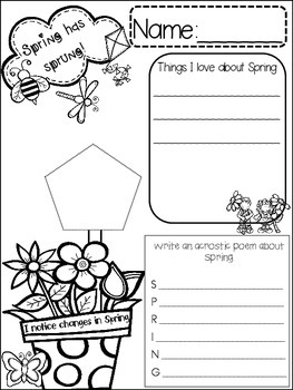 SPRING {{quick topics}} one interactive worksheet