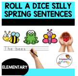 SPRING roll a dice SILLY SENTENCES and STORIES k12345