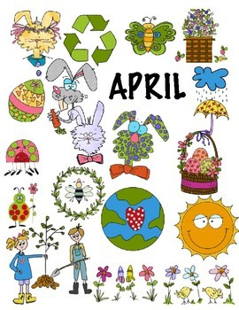 SPRINGTIME . EASTER . EARTH DAY CLIP ART