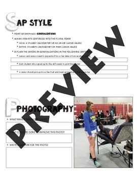 SPUB Starters week 8: Weekly work/bellringers for journalism