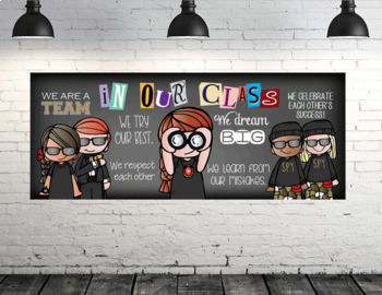 SPY KIDS / detective - Classroom Decor: LARGE BANNER, In Our Class - horizontal