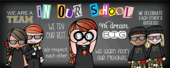 SPY KIDS / detective - Classroom Decor: LARGE BANNER, In Our School - horizontal