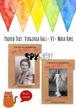SPY vs. SPY Artemis vs. Mata Hari Paired Informational Texts NO PREP PACK