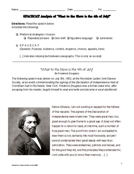 "SPaceCat Strategy: Frederick Douglass's ""What to the Slave is 4th of July"""