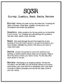 SQ3R Handout and Worksheet