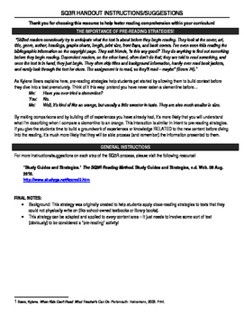 SQ3R - Overview and Worksheet