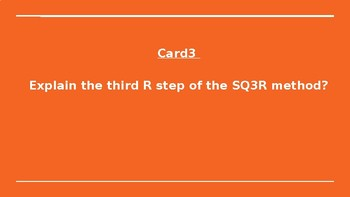 SQ3R Task Cards