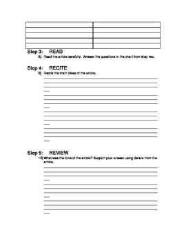 sq3r template - sq3r worksheets resultinfos