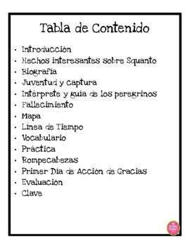 SQUANTO IN SPANISH