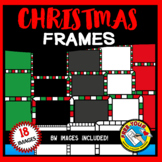 CHRISTMAS CLIPART FRAMES AND BORDERS (SQUARE SHAPE)