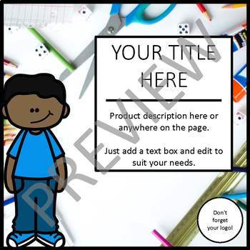 SQUARE - EDITABLE - Product Covers for Your TpT products