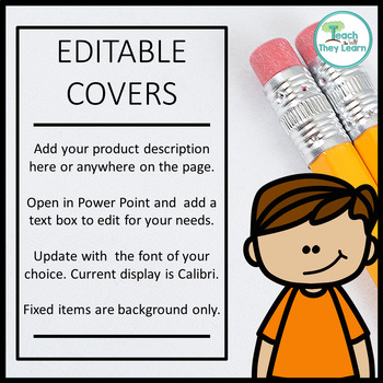 Product Covers for Your TpT products - SQUARE - EDITABLE